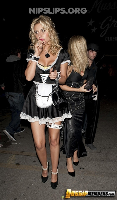 df8f 21 Alyson Michalka is a vampire french maid slut Get more nipple slips at Nipple Slips org